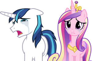 Crying Shining Armor and Princess Cadance by CloudyGlow