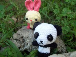 bunny and panda 2 by oddSpaceball
