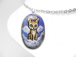 Orange Tabby Cat Pendant Necklace / Sold by sobeyondthis