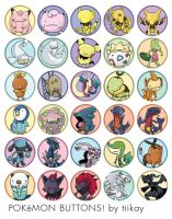 MORE Pokemon buttons by tiikay