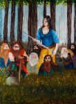 Snow-White and the Seven Dwarves by VikingWidunder