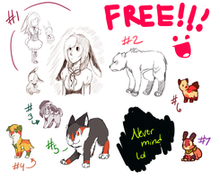 Free designs yayyyy CLOSED by Manic-Bunny