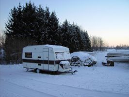 caravan and snow1 by akinna-stock