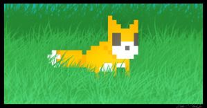 A Pixel Fox? A Foxel? A Pox? by ChemicalTaint
