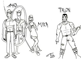 Designs Amadi-Mika-Talon by FG-Arcadia