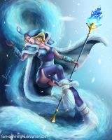 Crystal Maiden - Dota 2 fanart by ForeverShining46