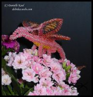 Beaded Fairy Dragon III by Delinlea