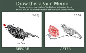 Meme: Draw this Again (Nightingale and the Rose) by adkind