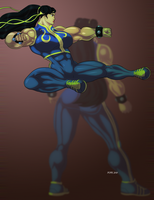 Lin as Chun Li by hulkdaddyg