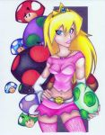 my coloring of princess peach by DoozersWorkshop
