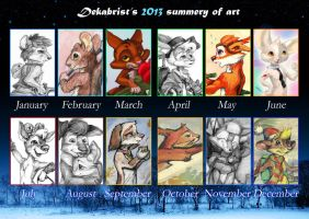 2013 summery of art by DekabristMouse