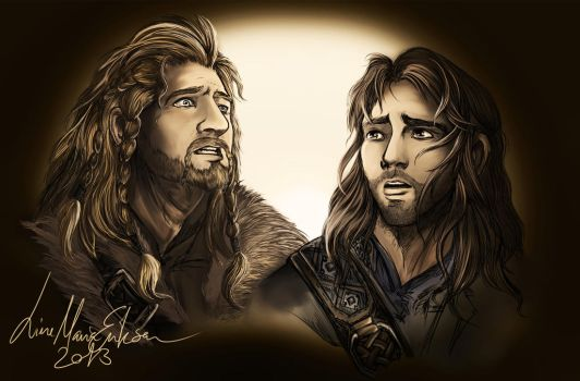 .: I See Fire - Kili and Fili :. by TheLupin