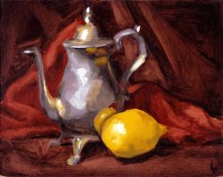 Still Life with Teapot by AlisonS11605
