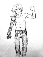Ed Elric sketch by rockinrobin