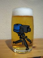 TF2 Sentry Gun Drinking Glass by WispyChipmunk