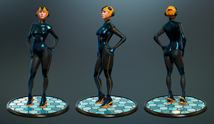 Stylized Female Character - Turnaround by J-L-Art