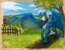 Stroll on the farm [w] by Bluehasia