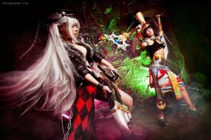Heroes fight -Minstrel vs Oracle- Atlantica Online by Elanor-Elwyn