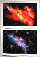 Space Paintings by OliveArtOlive