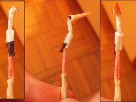 Matchstick carving- White stork by RetardedDogProductns