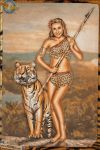 Pinups - A Dame and a Tiger by warbirdphotographer