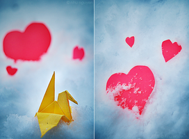 Paper Hearts and Snow Cranes by jump-4-joy