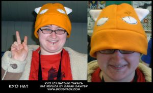 Fruits Basket Kyo Fleece Hat by wolfsilvermoon