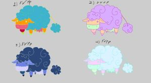 Cloud cow free adoptables set 5 SOLD by Feendra13