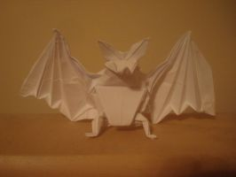 Origami bat by MasonAndAGhast
