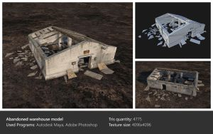Abandoned warehouse model by Ghostb