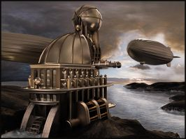 Airship Station Building 2 by Alanise