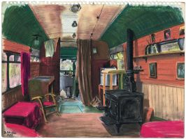 Bus Interior no.1 by NewAgeTraveller