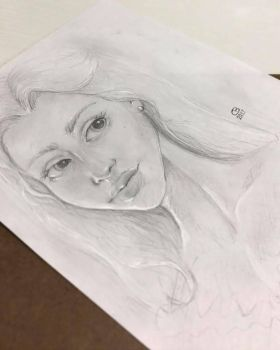 Pencil Drawing by Courtney-Berthelot