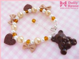 Lolita choco bear Bracelet by Dolly House by SweetDollyHouse