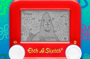 Patrick Star I love you Etch A Sketch by pikajane