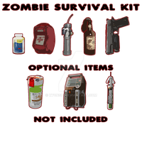 Zombie Survival Kit by Ky0nshi