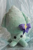Blue Dotted Squid Plushie by Love-Who