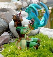 Playing with Carbuncle by Blackash