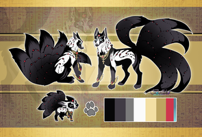Egyptian Kitsune//Auction//CLOSED by Belliko-art