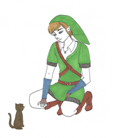 link and kitty by oscar-ojisan