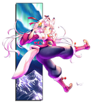 CSP Contest: Energetic Arctic Fox Girl by Nsio