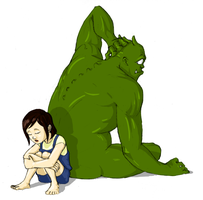 Ogre and Girl by kendmd