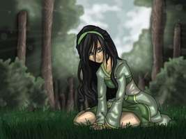 toph in the woods by rotten-jelly-babie