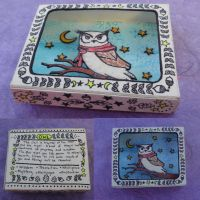 Owl Shadow Box by cashewed-almonds