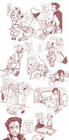 Sketch Dump: BE: AU And Otherwise by conmandamned