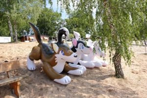 Inflatables on the beach 2 by schorse1000
