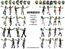 256 Zombies by JimmyMarshall