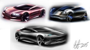 Car sketching practice 2015 by koleos33