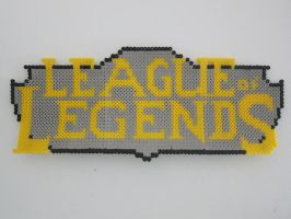 League of legends logo perler beads by zorberema