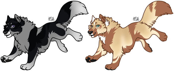 Wolf Design Adopts - Open by CreatureCreatingBabe